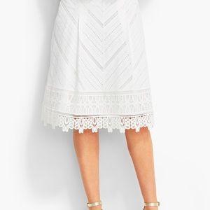 18W Talbots White Lace & Eyelet Skirt